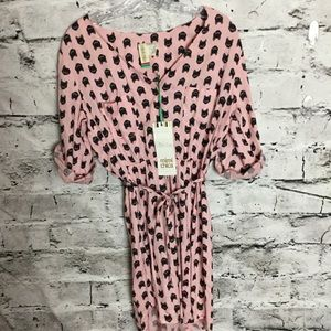 Mimi Chica Pink Dress with black cats